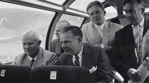 Kruschev on train