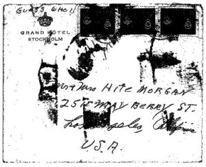 Murry to Hite letter - Envelope