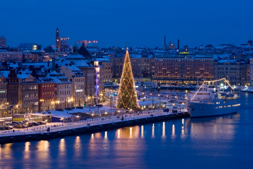 Stockholm Hotel can be seen in the background