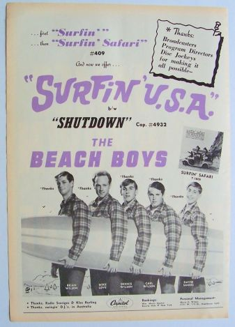 Surfin' U.S.A. concert poster